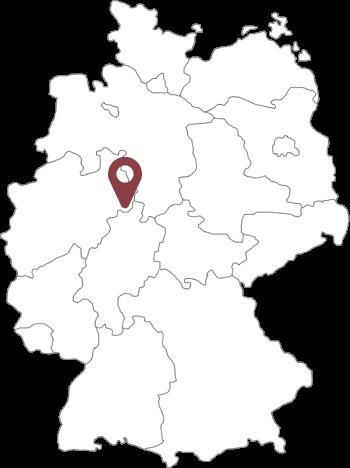 Lage der Orgelstadt Borgentreich in Deutschland
